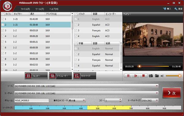 4Videosoft DVDクローン