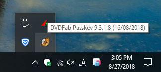 DVDFab Passkeyのアイコンを表示